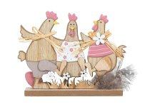 Holz Hühnerdekoration zum Stellen