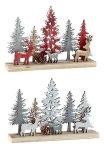Holz-Winterlandschaft mit Rehen h=13,5cm