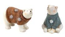 Eisbären mit Pullover h=14+16cm sort.