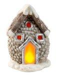 Cone house w. flickering light h=28,5cm