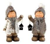 Winter Kids braun with fabric hat w.