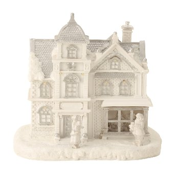 Winterhaus mit LED h=21cm b=22cm