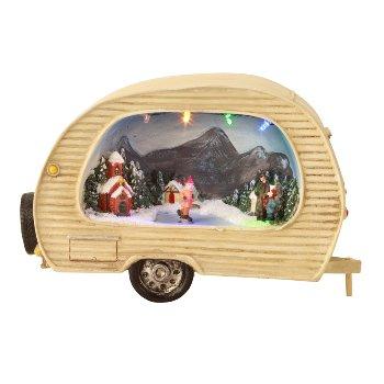 Wohnwagen Winterlandschaft mit LED