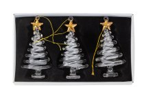 Glass tree with golden star for hanging