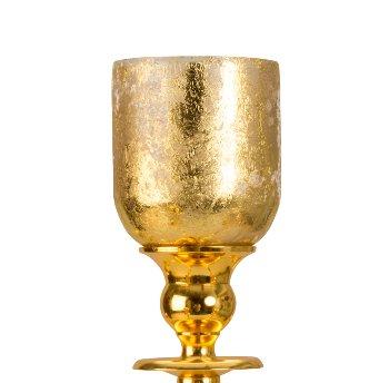 Glaseinsätze Gold-Verzierung 5-armige