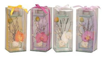 Glas f.Teelicht Orchideen-Deko h=20cm