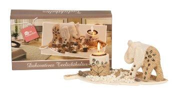 Teelichthalter-Set mit Elefant h=11cm