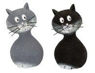 Katzen stehend grau und schwarz mittel