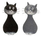 Katzen stehend grau und schwarz groß
