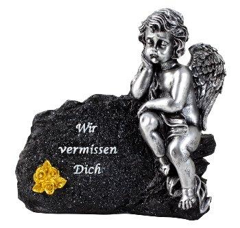 Grabengel neben Spruchstein