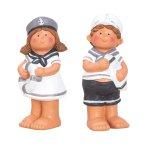 Navy kids boy & girl standing h=21cm