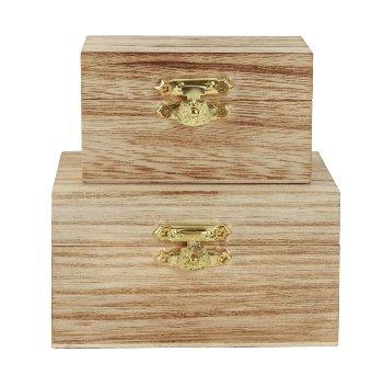 2er-Set Holzbox 9x6cm h=4,5cm & 10x8cm