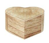Holzbox in Herzform b=8,8cm h=4,6cm