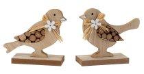 Wooden bird h=12cm w=13,5cm asst.