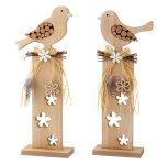 Wooden bird on column h=36,5cm w=15cm