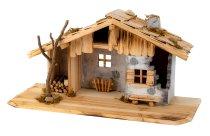 Wooden house h=26cm w=53cm
