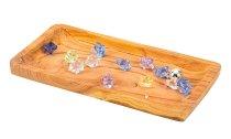 Holz-Tablett eckig ca. l=35cm b=16cm