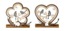 wooden decoration with birds and rabbit