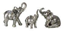 Elefanten stehend und sitzend silber