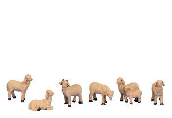 Schafe klein 6er-Set h=2,5-4cm