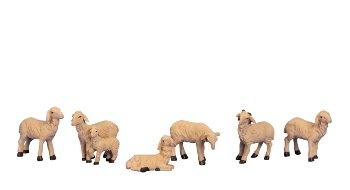 Schafe mittelgroß 6er-Set h=3,5-5cm