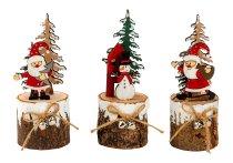 Weihnachtsdeko auf Holzstamm h=15,5cm