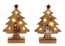 Weihnachtsbaum aus Holz mit LED h=23cm