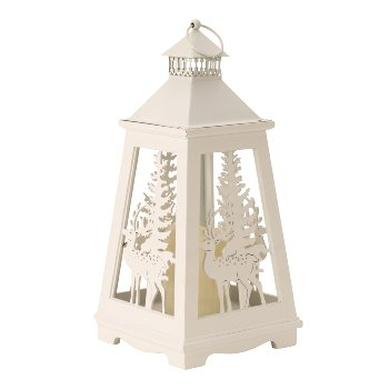 Holz-Winterlaterne mit LED-Licht