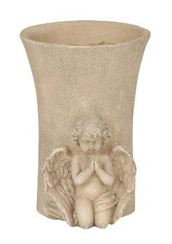 Engel vor einer Blumenvase h=17,5cm