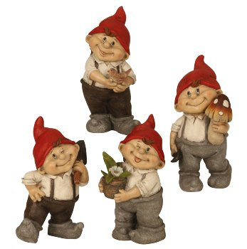 Gnome m.roter Zipfelmütze stehend