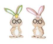 Holz Osterhase mit Brille zum Stellen